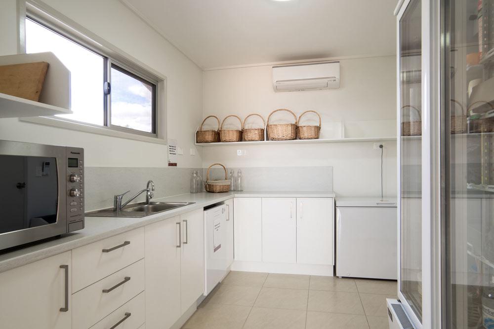 ENHM accommodation kitchen area