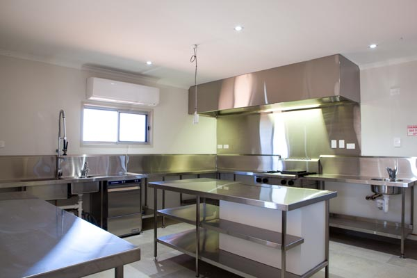 Commercial Kitchen at ENHM accommodation