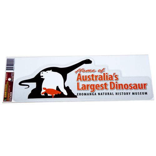 Sticker - home of Australia's Largest Dinosaur