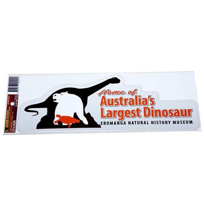 Sticker - home of Australia's Largest Dinosaur